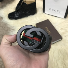 Belt Gucci Green/Red/Green Black