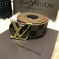 Belt Louis Vutton Initiales 40MM Silver Damier Ebene