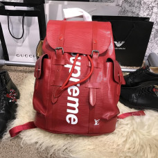 Louis Vuitton x Supreme Christopher Backpack Red
