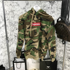 Supreme Hooded Sweater Unisex Camo